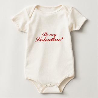 Sea mi tarjeta del día de San Valentín Mameluco De Bebé