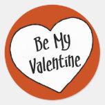 Sea mi tarjeta del día de San Valentín - pegatina