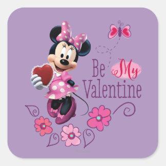 Sea mi tarjeta del día de San Valentín Pegatina Cuadrada