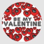 Sea mi tarjeta del día de San Valentín Pegatinas