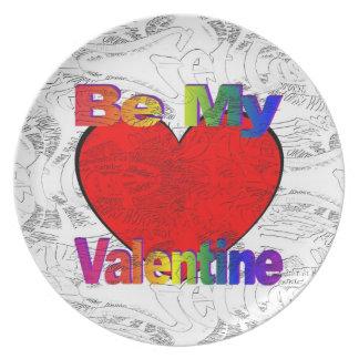 Sea mi tarjeta del día de San Valentín - pierdase Plato