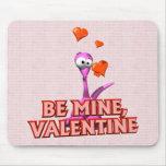 Sea mi tarjeta del día de San Valentín Tapete De Ratones