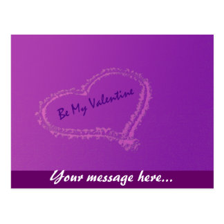 Sea mi tarjeta del día de San Valentín Tarjetas Postales
