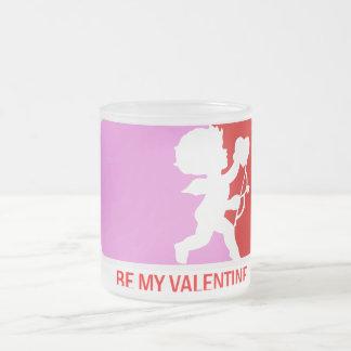 Sea mi tarjeta del día de San Valentín Taza Cristal Mate