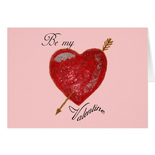 Sea mi tarjeta del día de San Valentín tirada con