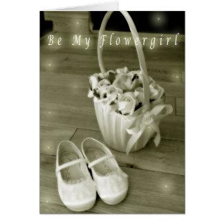 Sea mi tarjeta del flowergirl