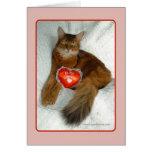 Sea mi tarjeta del gatito de la tarjeta del día de