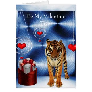 Sea mi tigre de la tarjeta del día de San Valentín