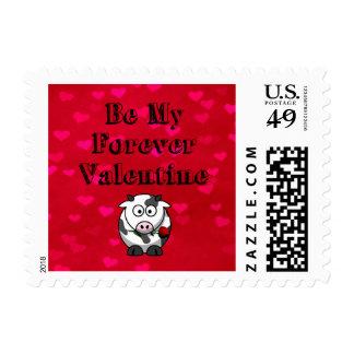 Sea mi vaca de la tarjeta del día de San Valentín Sellos