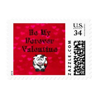 Sea mi vaca de la tarjeta del día de San Valentín Timbres Postales