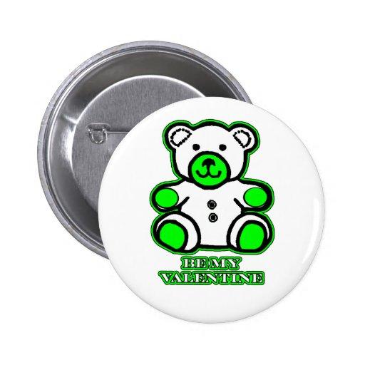 Sea mi verde blanco del oso de la tarjeta del día  pins