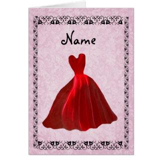 Sea mi vestido ROJO 2 del terciopelo de la Tarjeta Pequeña