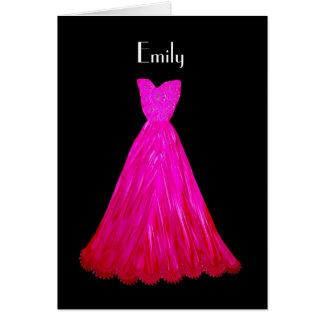 Sea mi vestido V03 del ROSA de la dama de honor Tarjeta De Felicitación