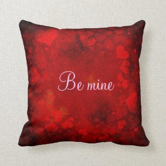 Sea mina me casan rosa rojo de los corazones de la almohadas