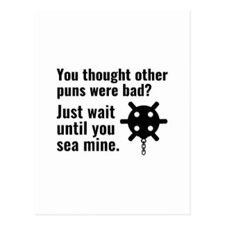 Sea Mine Pun Postcard