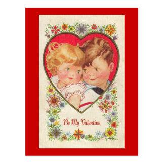 Sea mis niños de la tarjeta del día de San Valentí Postal