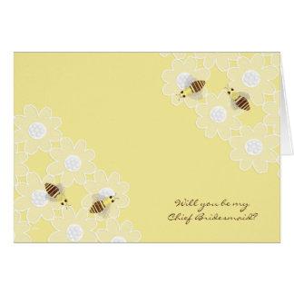 Sea mis principales abejas de la miel de la dama d felicitacion