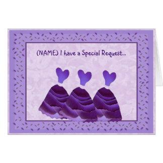 Sea mis vestidos B431 de la púrpura de la Tarjeta De Felicitación