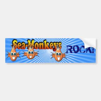 Sea Monkeys Monkees Design Car Bumper Sticker