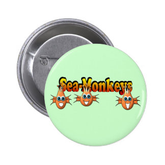 Sea Monkeys Monkees Design Buttons