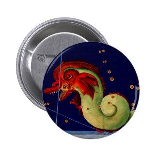 Sea Monster Creature Myth Fantasy Pinback Button