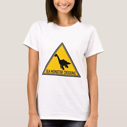 Sea Monster Crossing Logo T-Shirt