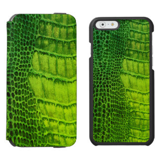 Sea Monster in Bright Green Faux Leather iPhone 6/6s Wallet Case