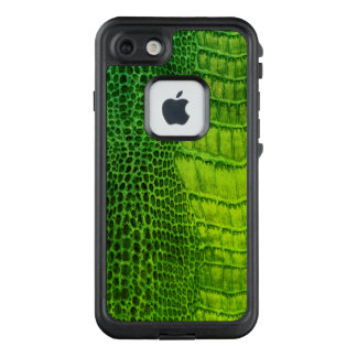 Sea Monster in Bright Green Faux Leather LifeProof FRĒ iPhone 7 Case