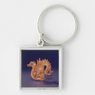 Sea monster 'Ketos' Silver-Colored Square Keychain