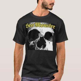 Sea Monster Logo With Skull (Black Shirt) T-Shirt