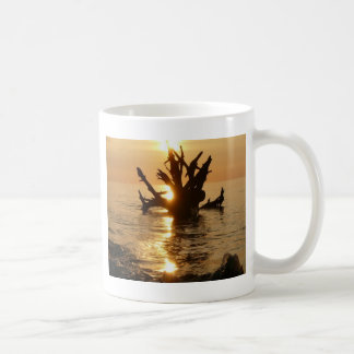 sea monster tree trunk Alnmouth Beach Coffee Mug