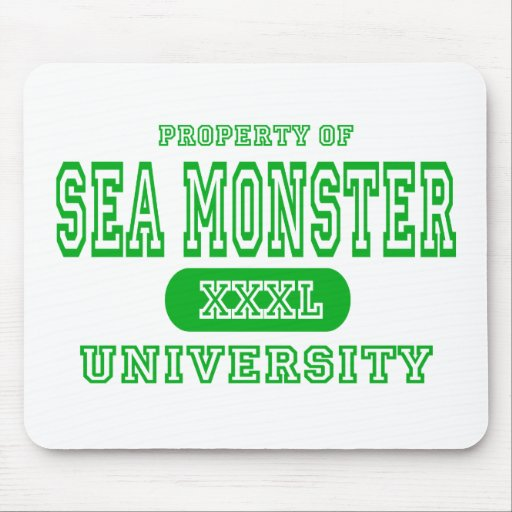 Sea Monster University Mouse Pads