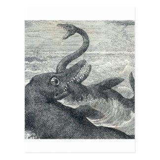 Sea Monster Vs. Sea Serpent Postcard