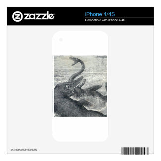 Sea Monster Vs. Sea Serpent Decal For The iPhone 4S