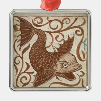 Sea Monster (w/c on paper) Metal Ornament