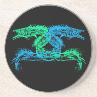 Sea Monsters Chose Your Background Color Coaster