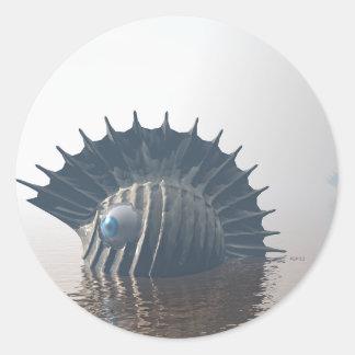 Sea Monsters Classic Round Sticker