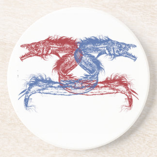 Sea Monsters With Your Choice Background Drink Coaster