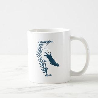 sea more otter kelp California navy forest ocean Classic White Coffee Mug