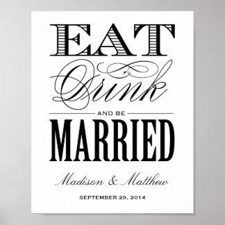 Sea muestra casada de la recepción nupcial del | póster