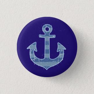 sea nautical navy anchor button