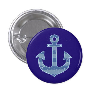 sea nautical navy anchor button