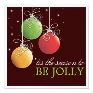 Sea navidad alegre que la celebración de días fest invitaciones personales