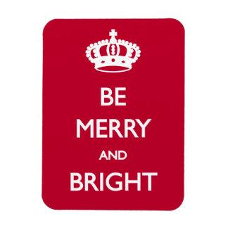Sea Navidad Felices y brillantes Imanes Rectangulares