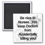 Sea Niza a las enfermeras Imán Cuadrado