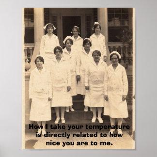 Sea Niza a las enfermeras Póster
