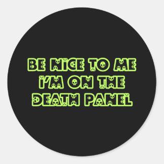 Sea Niza a mí que estoy en el panel de la muerte Pegatina Redonda