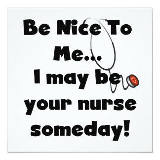 """Sea Niza camisetas y regalos de la enfermera Invitación 5.25"""" X 5.25"""""""