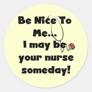 Sea Niza camisetas y regalos de la enfermera Pegatina Redonda