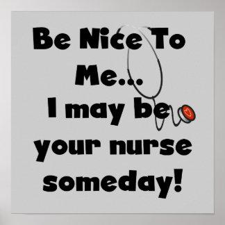 Sea Niza camisetas y regalos de la enfermera Póster